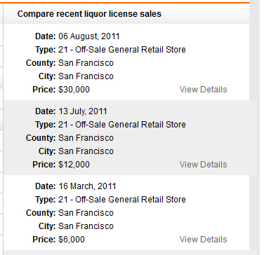 Liquor License Connection comps
