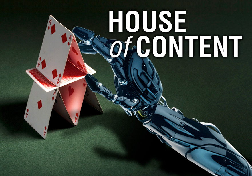 build a house of content for content marketing